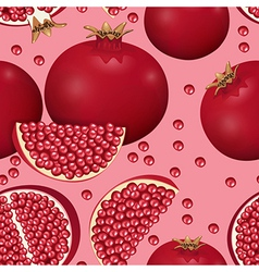 seamless texture of pomegranate vector image
