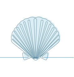 Seashell continuous line vector