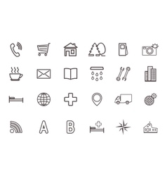 Set of icons for the card vector image