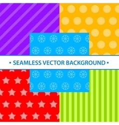 Set of simple seamless different colors vector image