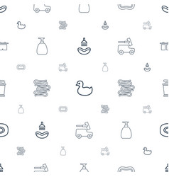 shower icons pattern seamless white background vector image