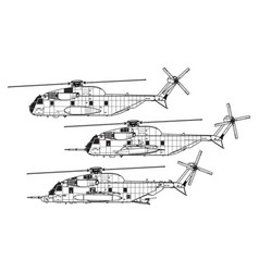 sikorsky ch-53 sea stallion vector image