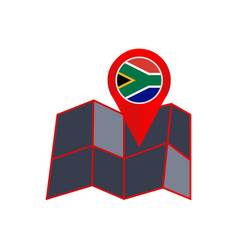 Simple south africa map pins are isolated vector