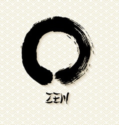 Simple Zen circle traditional enso vector