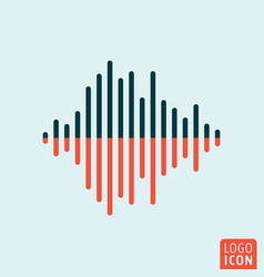 sound wave icon isolated vector image