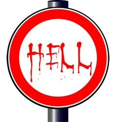 Spoof Hell Traffic Sign vector