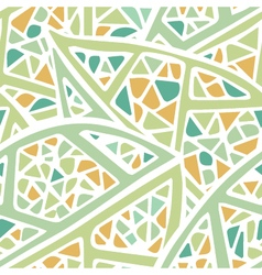 Staines glass leaf light colors seamless pattern vector