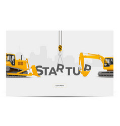 Startup creation building vector