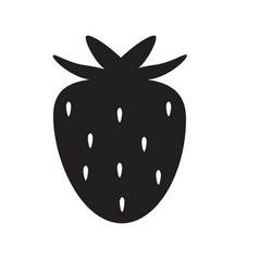 strawberry icon on white background strawberry vector image
