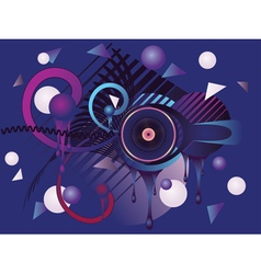 Stylized Music Poster vector image vector image
