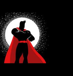 Superhero in gallant pose vector