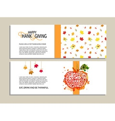 Templates for Thanksgiving dinner vector