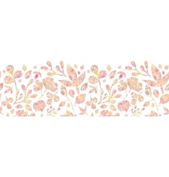 Textured pastel Leaves Horizontal Seamless Pattern vector image