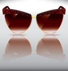 Tortoise half frame old sunglasses vector
