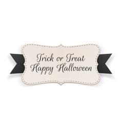 Trick or Treat Halloween Banner vector
