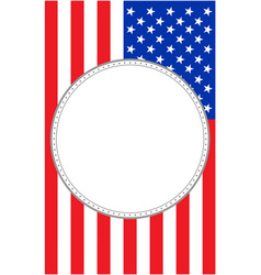 usa flag with round frame vector image
