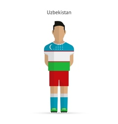Uzbekistan football player Soccer uniform vector