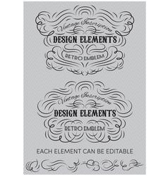 Vintage calligraphic elements templates vector