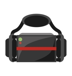 Virtual reality glasses wearable device vector