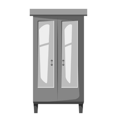 Wardrobe for clothes icon gray monochrome style vector