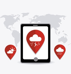 Weather mobile app vector