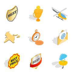 World diversity icons set isometric style vector