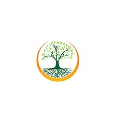 abstract green tree ecology logo vector image vector image