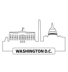 cityscape of washington vector image vector image