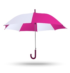 Classic opened bright red-white umbrella isolated vector image