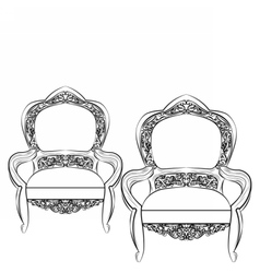 Exquisite fabulous imperial baroque chair vector