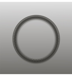 Greek Circle Frame Isolated vector image