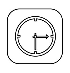 figure symbol clock icon vector image
