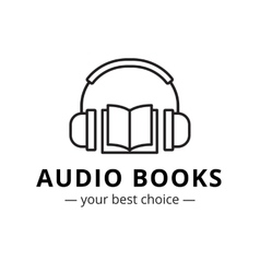 modern audio books store logo Line style vector image vector image