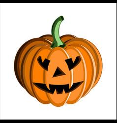 pumpkin face halloween vector image