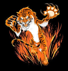 Tiger Ambush vector image