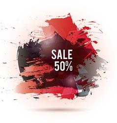 Watercolor-sale-red-gray vector image
