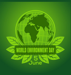 world environment day poster design vector image vector image