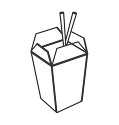 Chinese takeout food icon vector image