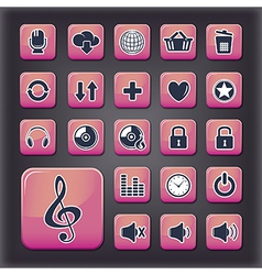 Media player universal buttons vector image vector image