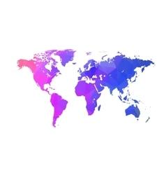 triangle world map Globe triangle concept vector image
