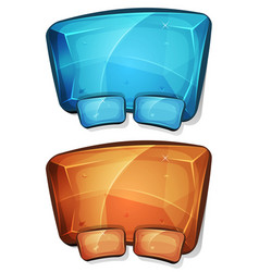 cartoon diamond panel for ui game vector image