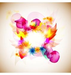 elegantly decorated frame vector image vector image