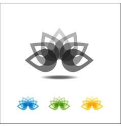 Four lotus icons vector image