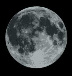 moon vector image