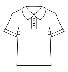 Polo shirt icon outline style vector image vector image