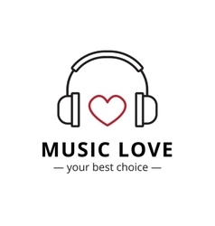 trendy line style music store logo vector image vector image