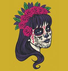 vintage sugar skull vector image