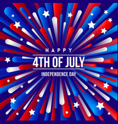 4th july independence day - greeting design vector