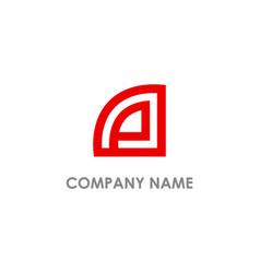 Abstract line company logo vector