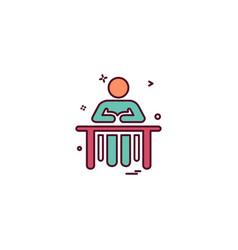 Administrative desk reception icon design vector